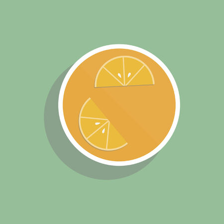 Orange juice drink Ilustracja