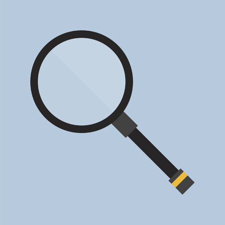 hand held: Magnifying glass Illustration