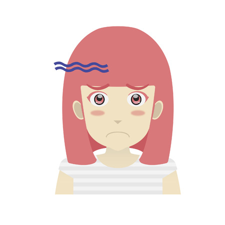 disappointed': Portrait of a girl looking disappointed Illustration