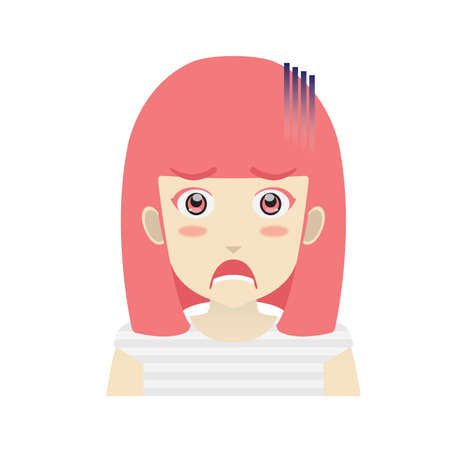 devastated: Portrait of a girl looking devastated