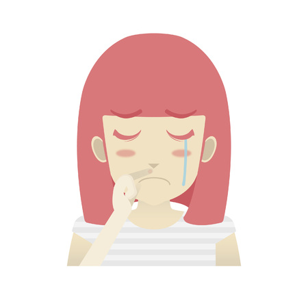 Portrait of a girl crying