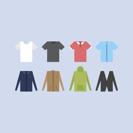 Shirts, t-shirts and jackets Stock Vector - 31232087