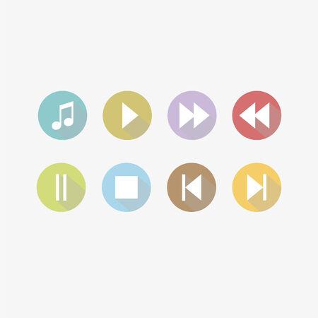 音楽コントロール ボタン  イラスト・ベクター素材