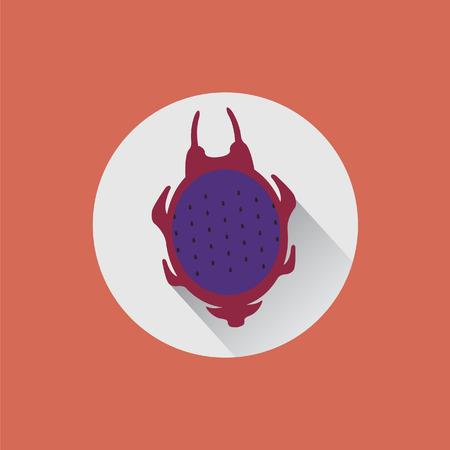 fruit du dragon: A partag� le fruit de dragon sur une plaque