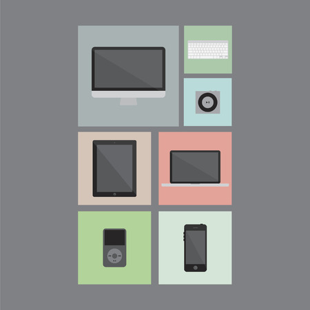 Gadget set icons Vector