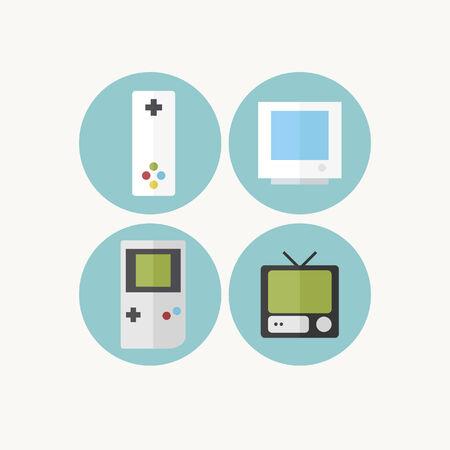 Game console icon set