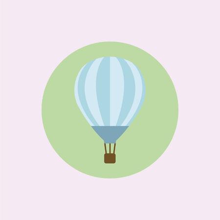 Hot air balloon Ilustracja