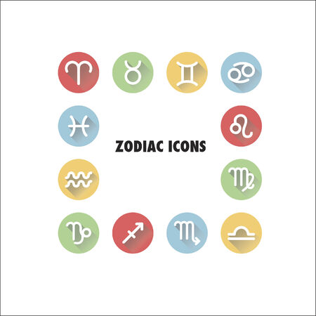 Zodiac icons Vector