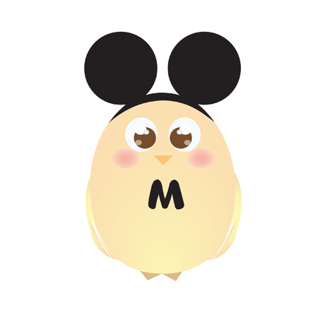 chick: A chick wearing mouse ears