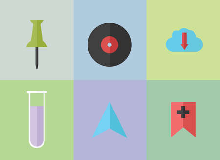 Montage of various items Vector