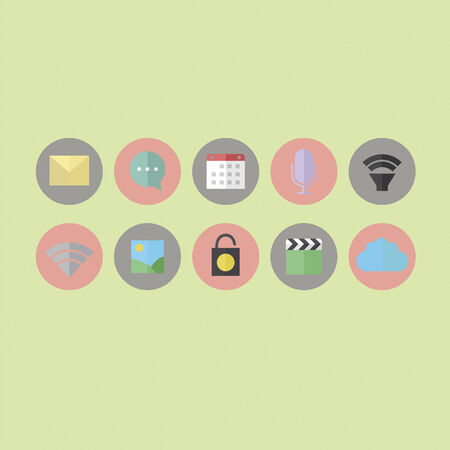 Application icons Vector