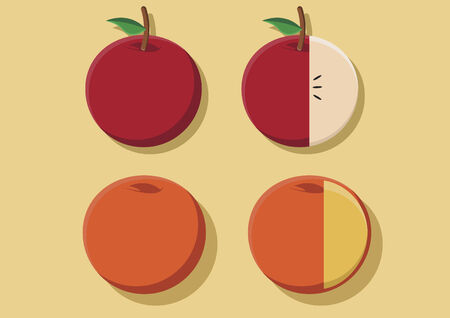 apples and oranges: Vectors of apples and oranges