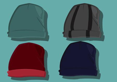 beanie: Vector of beanie hats