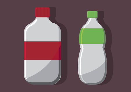 Vector of carbonated drinks Illustration