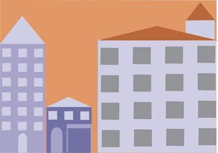 Vector of buildings