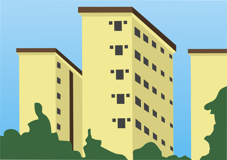 Vector of apartments