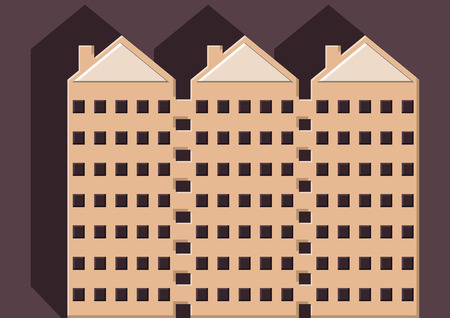 Vector of condominiums