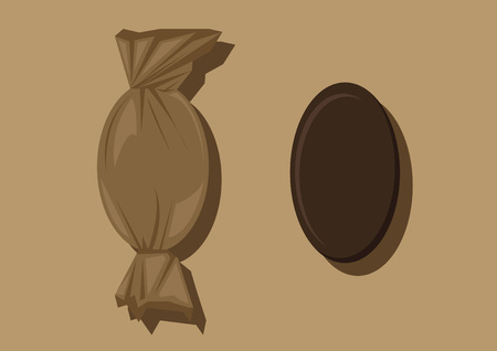 toffee: Vector of chocolate candy Illustration