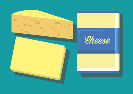 Vector of cheese