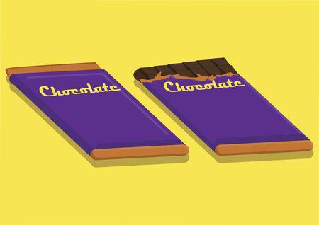 barra de chocolate: Vector de barra de chocolate Vectores
