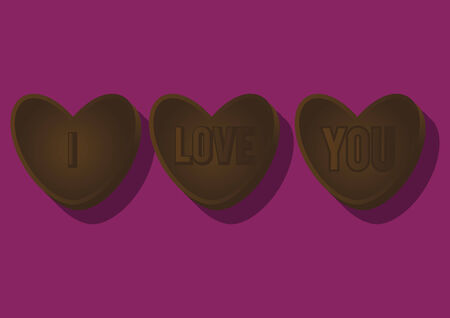 Vector of heart shaped chocolate
