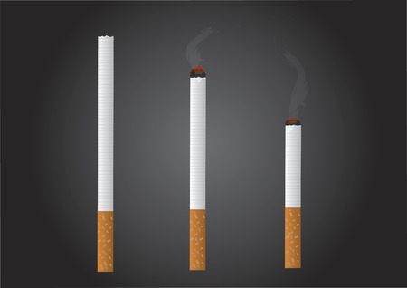 burn out: Vector of cigarettes