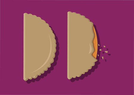 Vector of pastry puffs