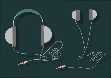 Vector of audio instruments Illusztráció