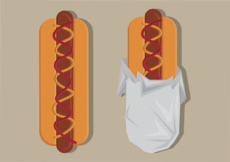 Vector of hotdogs