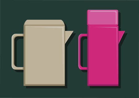 Vector of water containers