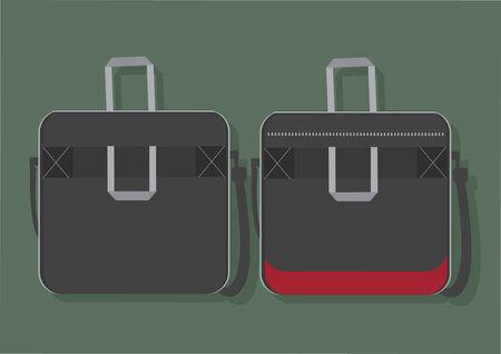 ラップトップ バッグのベクトル  イラスト・ベクター素材
