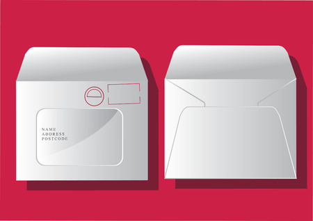 白い封筒のベクトル  イラスト・ベクター素材