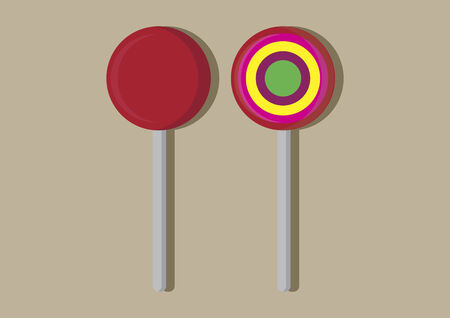 Vector of lollipops
