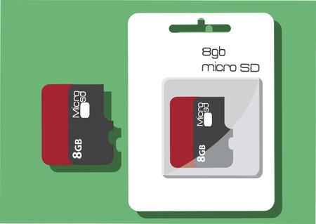 マイクロ メモリ カードのベクトル  イラスト・ベクター素材