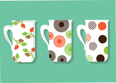 Vector of coffee mugs 向量圖像