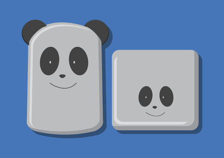 Vector of panda food container