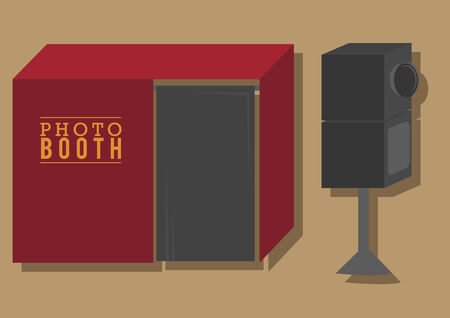 Vector of a photobooth