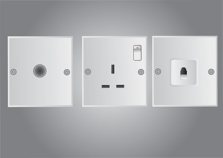 Vector of electrical outlet