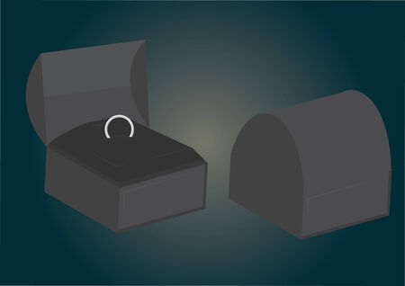 Vector of a ring in jewelry box