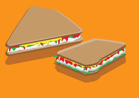 サンドイッチのベクトル  イラスト・ベクター素材