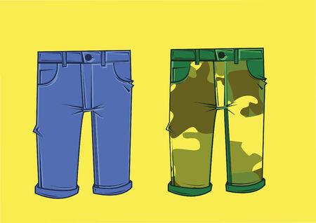 cargo pants: Vector of cargo pants