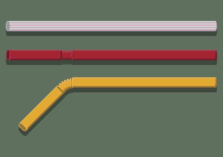 Vector of drinking straws Illustration