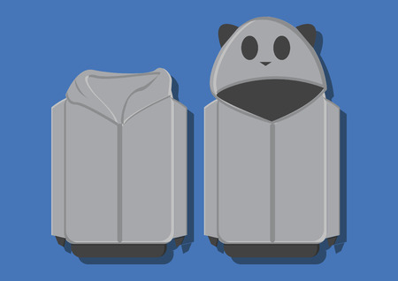 Vector of a panda sweater Vector
