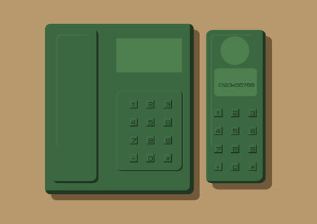 call outs: Vector of a telephone
