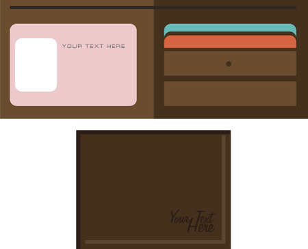 Vector of leather wallet Ilustrace