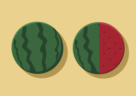 Vector of watermelons