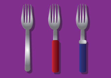 three objects: Vector of forks