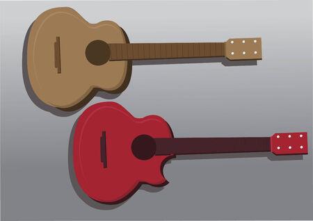Vector of guitars