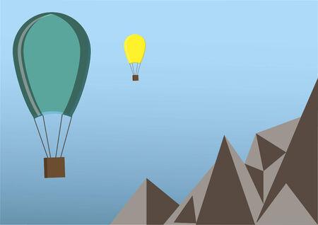 Vector of hot air balloons