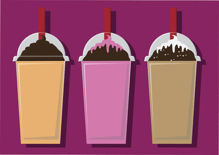 Vector of blended drinks
